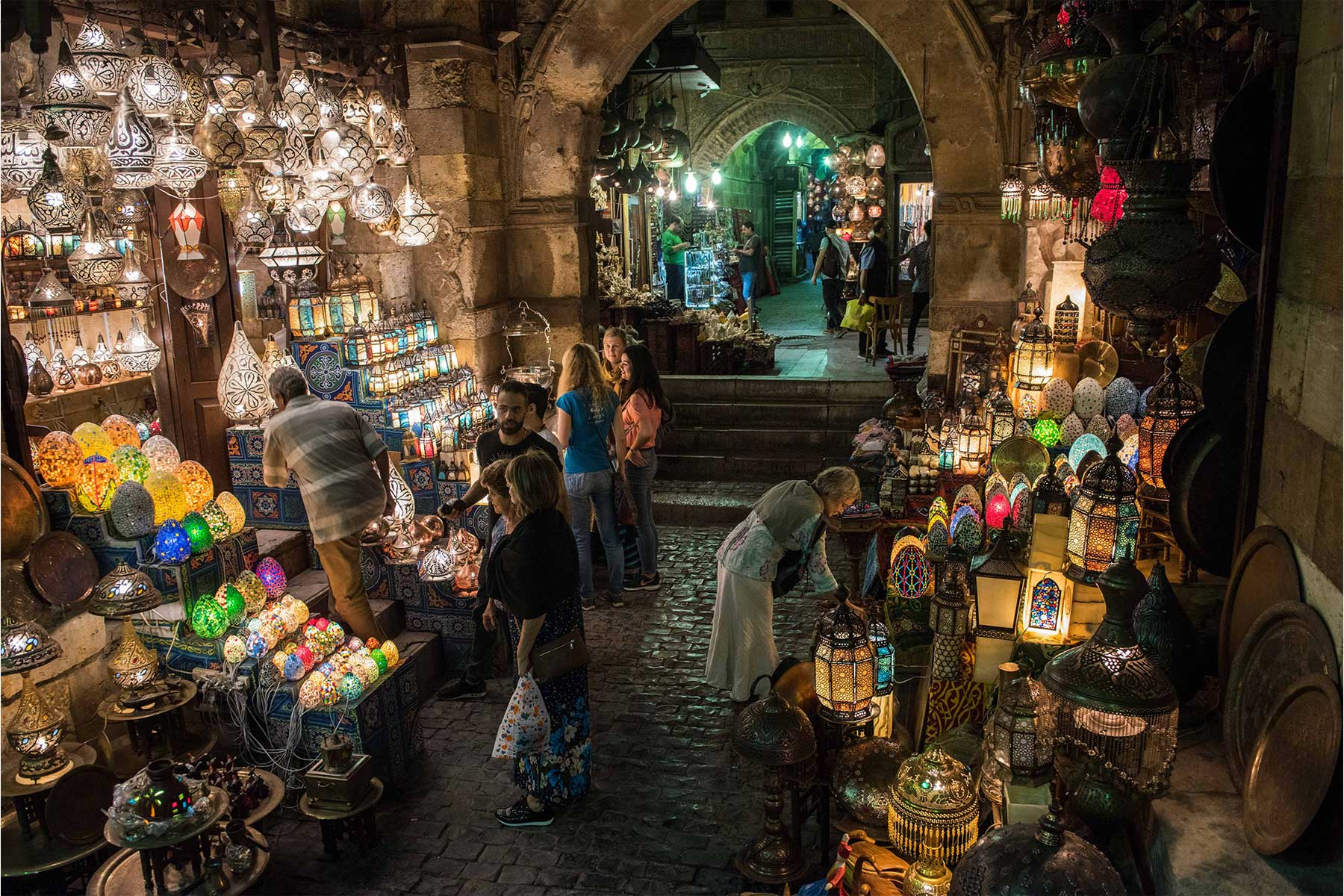 Khan El-Khalili at night